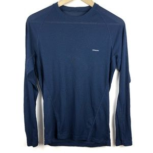 Patagonia Base Layer Shirt Small Navy Blue Mens